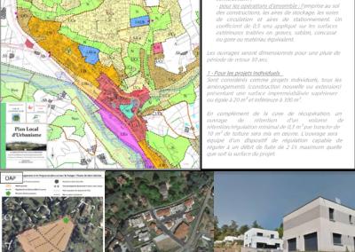 Élaboration de P.L.U. – Gestion des eaux pluviales en secteur urbain – Commune de La Fouillouse (42)