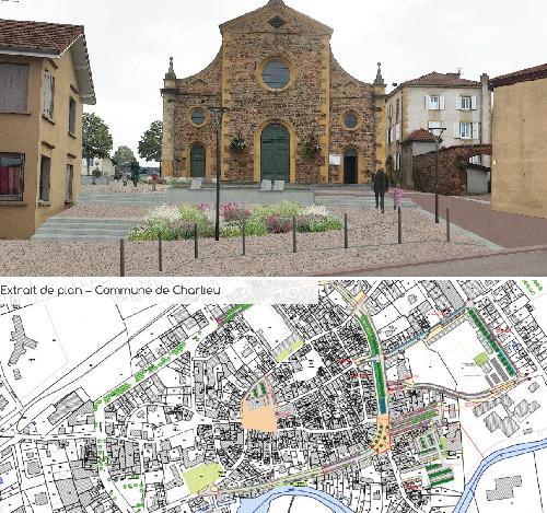 Élaboration d'Études Préalables aux Requalifications de Bourg – Département de la Loire (42)