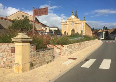 Aménagement de la traversée RD70 et de la place de l'Église – Commune de Cuinzier (42)