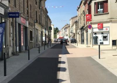 Requalification de la rue du commerce – Renaison (42)