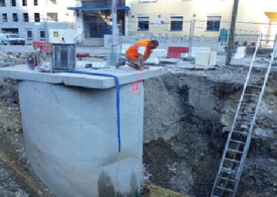 Réalisation de travaux sur le réseau d'eaux usées, commune de Saint Rambert en Bugey (01)