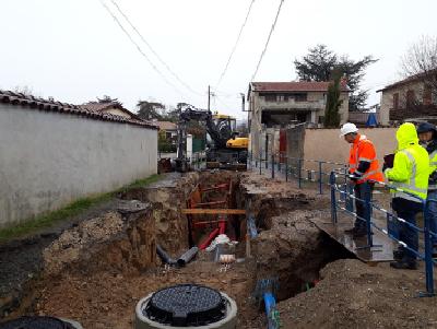 Mise en séparatif des réseaux d'assainissement, secteur Montcel, commune de Brindas (69)