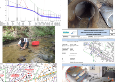 Schéma directeur d'assainissement et d'eaux pluviales de 45 communes de Loire Forez Agglomération (42)