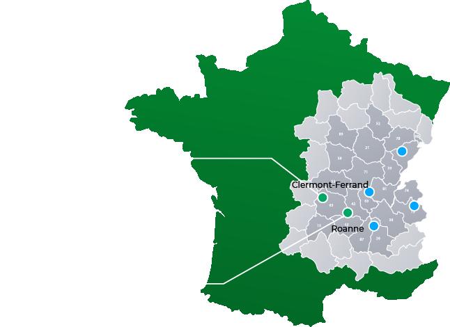 Points d'implantation et adresses de Réalités Urbanisme & Aménagement