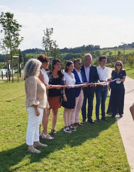 Inauguration des Bords de Loire à Villerest (42)