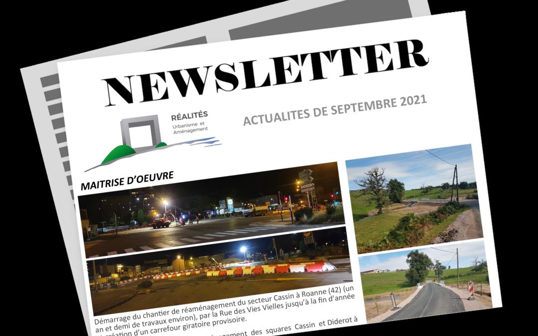 Newsletter SEPTEMBRE 2021