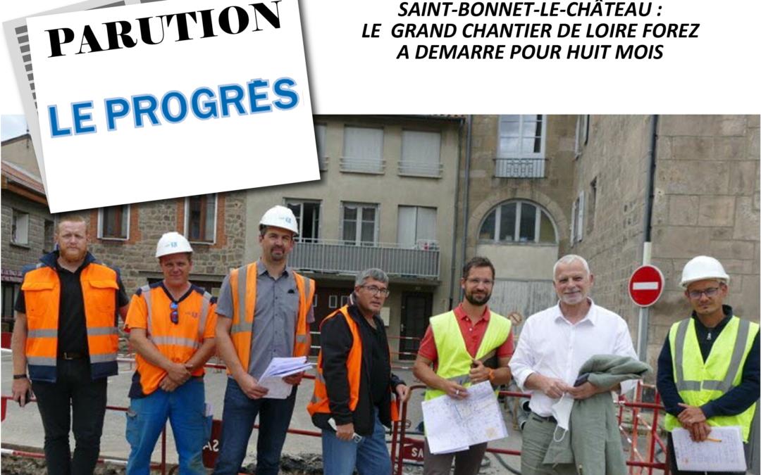 Parution LE PROGRES 14-09